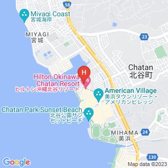 ヒルトン沖縄北谷リゾートの地図