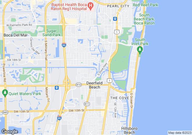 Map for Delray Beach, Palm Beach County, Florida