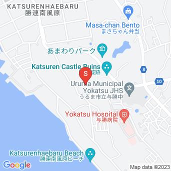 勝連城趾の地図