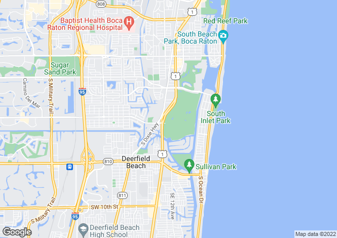 Map for Boca Raton, Palm Beach County, Florida