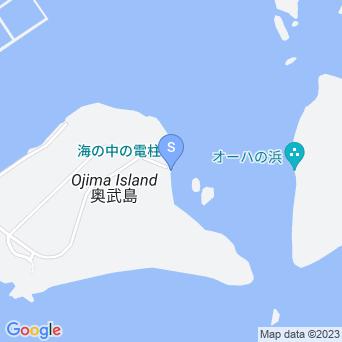 オーハと奥武の湾の地図