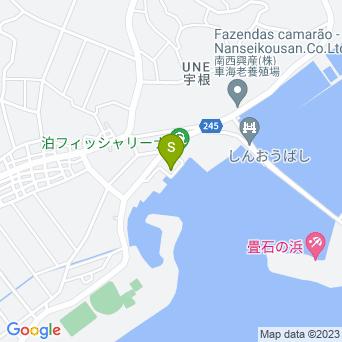 【イーフ発はての浜観光・グラスボート】久米島海洋レジャーの地図