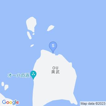 オーハ島北岸の地図