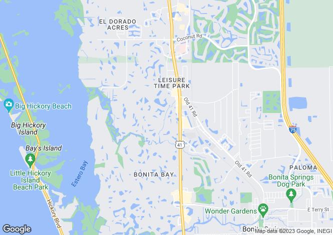 Map for USA - Florida, Lee County, Bonita Springs