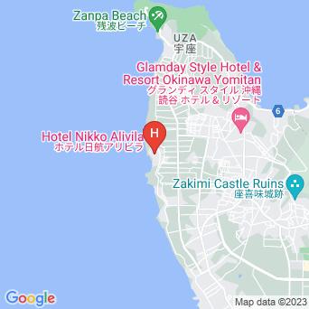 ホテル日航アリビラ・ヨミタンリゾート沖縄の地図