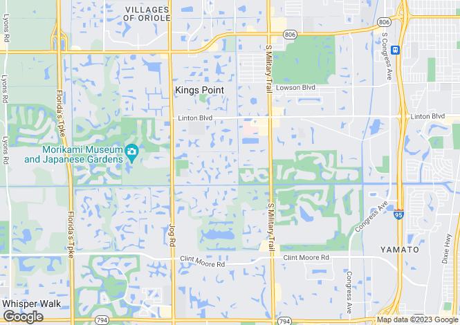 Map for USA - Florida, Palm Beach County, Delray Beach