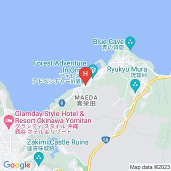 ベストウェスタン沖縄恩納ビーチの地図