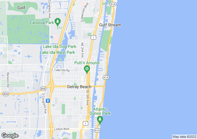 Map for Delray Beach, Palm Beach County, Florida