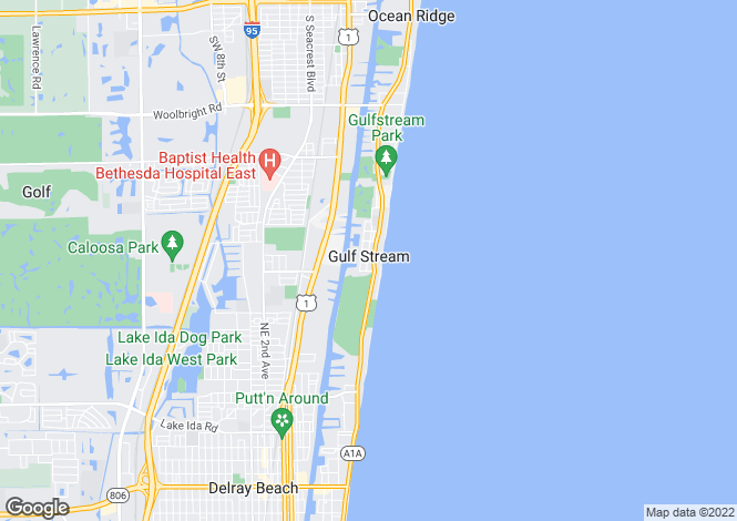 Map for Gulf Stream, Palm Beach County, Florida