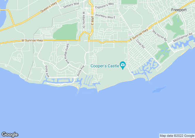 Map for Spanish Main Drive, Freeport, Grand Bahama, Bahamas