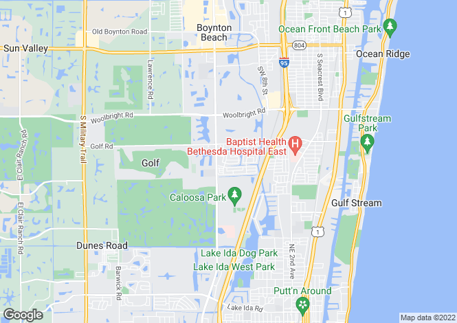 Map for Boynton Beach, Palm Beach County, Florida