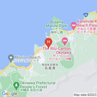 沖縄かりゆしビーチリゾートオーシャンスパの地図