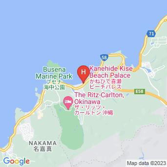 かねひで喜瀬ビーチパレスの地図