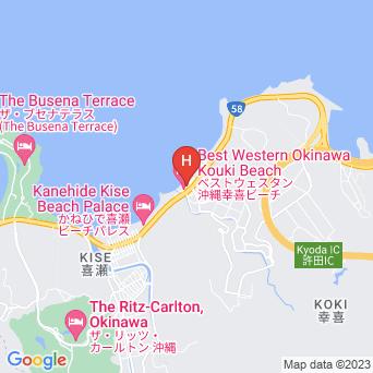 ベストウェスタン沖縄幸喜ビーチの地図