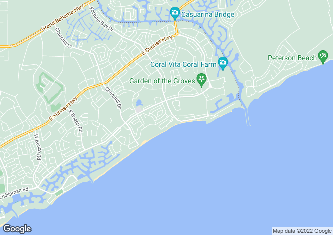 Map for Grand Bahama