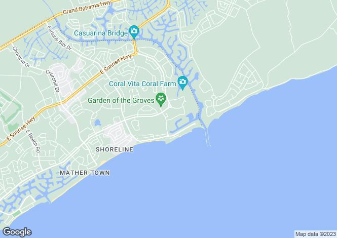 Map for Royal Palm Way, Freeport, Grand Bahama, Bahamas