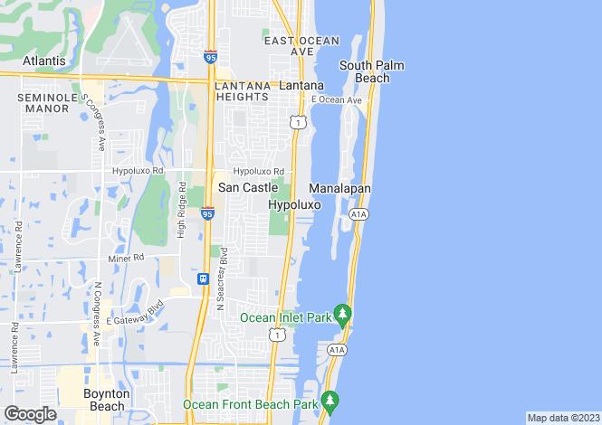 Map for Hypoluxo, Palm Beach County, Florida