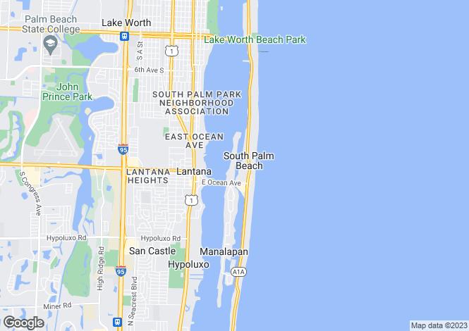 Map for Lantana, Palm Beach County, Florida