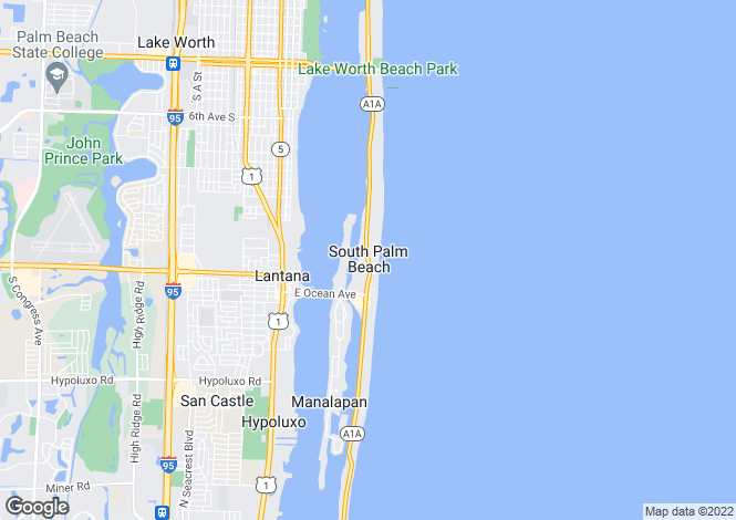 Map for South Palm Beach, Palm Beach County, Florida