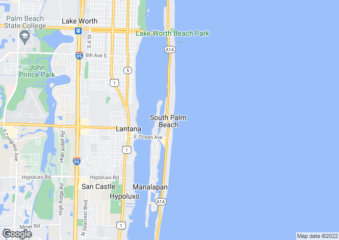 Map for Florida, Palm Beach County, Palm Beach