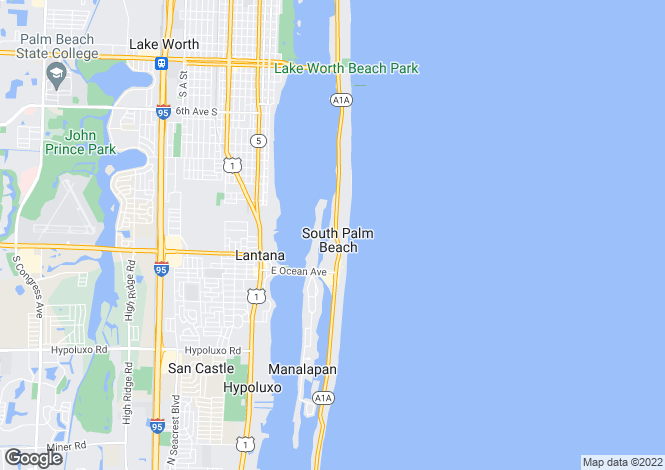 Map for USA - Florida, Palm Beach County, Palm Beach