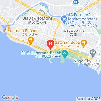 ホテルゆがふいんおきなわの地図