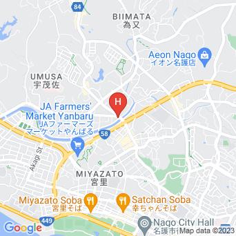 スーパーホテル沖縄・名護の地図