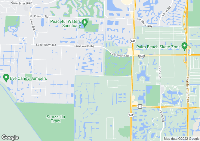 Map for USA - Florida, Palm Beach County, Wellington