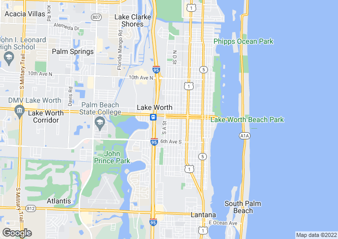 Map for Lake Worth, Palm Beach County, Florida