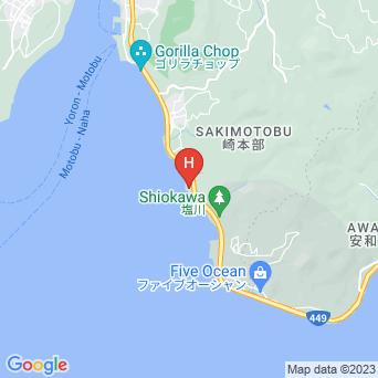 美ら海オンザビーチMOTOBUの地図