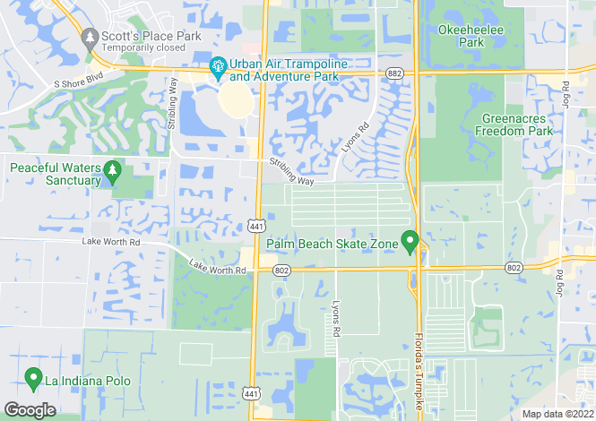Map for USA - Florida, Palm Beach County, Lake Worth