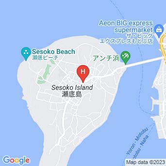夕日の宿 瀬底島の地図