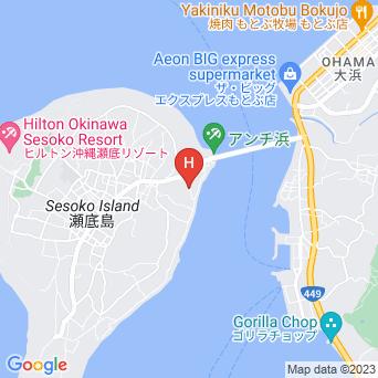 瀬底倶楽部の地図