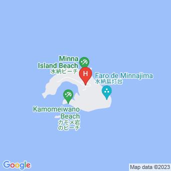 水納島ログハウス/マーメイド宿泊施設の地図