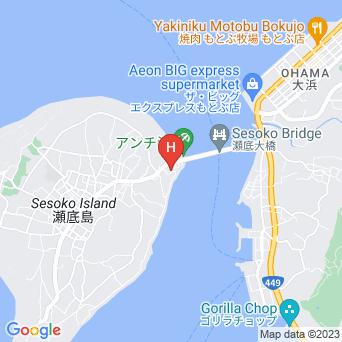 ペンションビーチサイドBUBUの地図