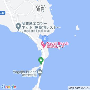 屋我地ビーチ(有料)の地図