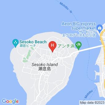 瀬底島ゲストハウス かふぅ村の地図