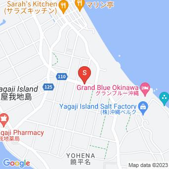 のどかな道路の地図