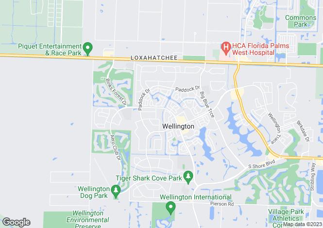 Map for Wellington, Palm Beach County, Florida