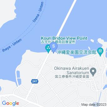屋我地島北の海の地図