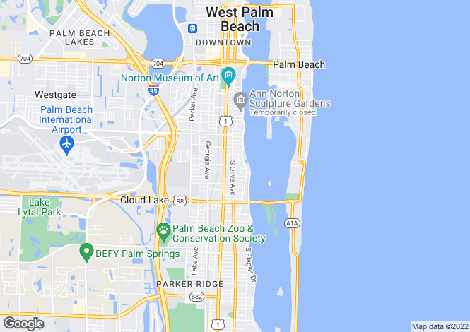 Map for USA - Florida, Palm Beach County, West Palm Beach