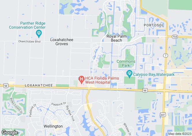 Map for Royal Palm Beach, Palm Beach County, Florida