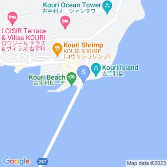 古宇利大橋東の海の地図