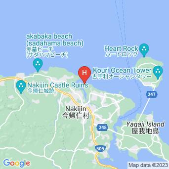 シーサイドインなきじん海辺の宿の地図