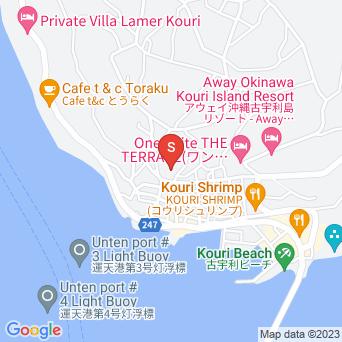 旧Cafeフクルビ(島の別の場所で宿として営業)の地図