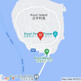 貸別荘古宇利の地図