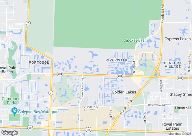 Map for West Palm Beach, Palm Beach County, Florida