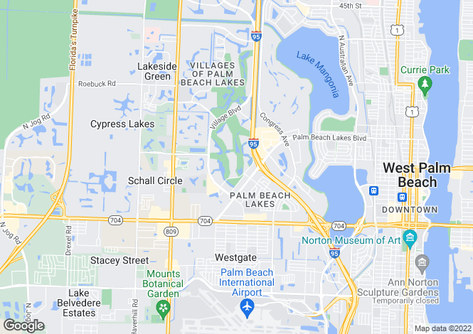 Map for West Palm Beach, Palm Beach County, Florida