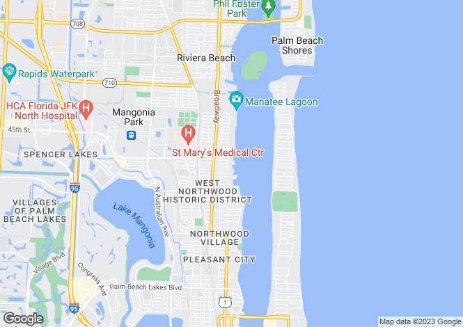 Map for USA - Florida, Palm Beach County, West Palm Beach