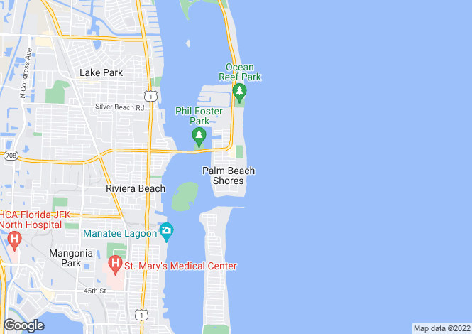 Map for Florida, Palm Beach County, Palm Beach Shores